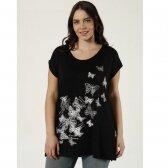Didesnio dydžio ilginti marškinėliai 25157. Tamsiai Mėlyna.