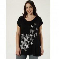 Didesnių dydžių ilginti marškinėliai DRUGELIAI 2
