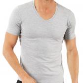Marškinėliai trumpomis rankovėmis, V formos kaklu