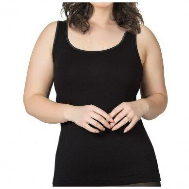 Didesnio dydžio  3XL-7XL marškinėliai plačiomis petnešomis 25922 2