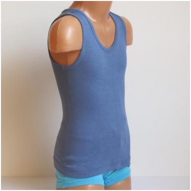 Vaikiški medvilniniai marškinėliai be rankovių 5