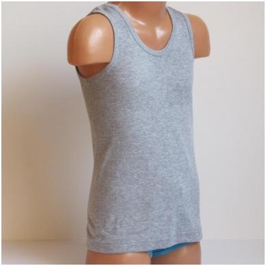 Vaikiški medvilniniai marškinėliai be rankovių 6