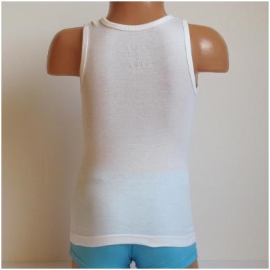 Vaikiški medvilniniai marškinėliai be rankovių 3