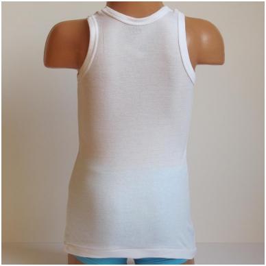 Vaikiški medvilniniai marškinėliai be rankovių 2