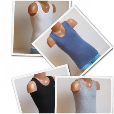 Vaikiški medvilniniai marškinėliai be rankovių