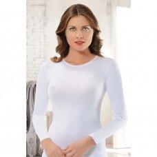 Modalo pluošto moteriška palaidinė ilgomis rankovėmis - 0902