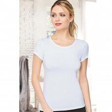 Modalo pluošto moteriška palaidinė trumpomis rankovėmis - 0884
