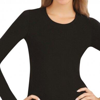 Modalo pluošto moteriška palaidinė ilgomis rankovėmis - 0902 2
