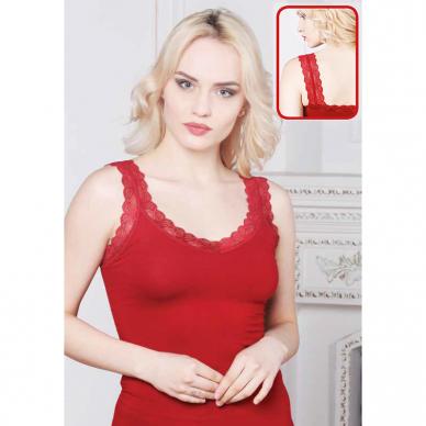 Nėriniu puošta moteriška apatinė palaidinė be rankovių 3