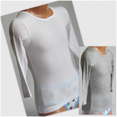 Vaikiški marškinėliai ilgom rankovėm iš viskozės