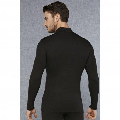 Vyriški šilti termo apatiniai marškinėliai aukštu kaklu (termo golfas) 3