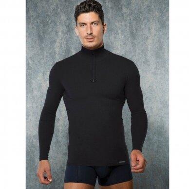 Vyriški šilti termo apatiniai marškinėliai aukštu kaklu (termo golfas) 2